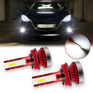 For Mazda 3 2004 2016 100w 6000k White Led Fog Driving Light Bulbs Replacement