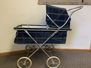 Antique Vintage 1960 S Chrome Easy Fold Baby Stroller Carriage Buggy