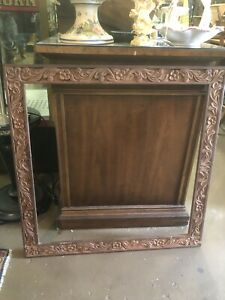 Large Vintage Natural Carved Wood Picture Frame Fits 24 1 2 By 24 1 2