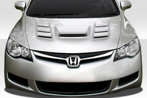 Duraflex Supremo Hood 1 Piece For 2006 2011 Jdm Civic 4dr