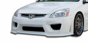 Duraflex Sigma Front Bumper Cover 1 Piece For 2003 2005 Accord 4dr