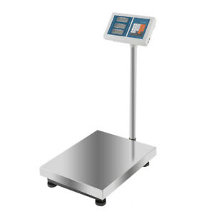 Heavy Duty 300kg 660lb Industrial Digital Platform Postal Weighing Scales Silver