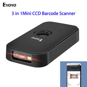 Eyoyo Bluetooth 2 4g Wireless Usb Wired Barcode Scanner For Phone Tablets Pc