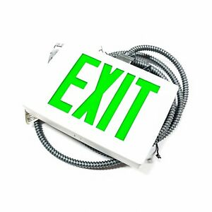 Lqc W 2 G Lithonia Lighting Green Exit Sign Double Faced W 21ft Reloc