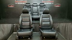 2009 Vw Tiguan Front Rear Power Leather Seat Black Interior Trim Code Tw