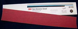 3m Red 01680 Stick It Adhesive Back File Board Sheet Sandpaper 40 Grit 25 Bx