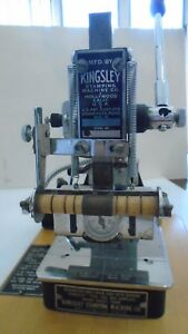 Kingsley 2 Line Hot Foil Stamping Embossing Machine