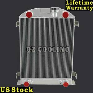 3 Rows Aluminum Radiator For 1930 1932 Ford Model A Flathead V8 Engine At mt