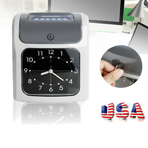 Us Analogue Electronic Calculating Time Recorder Clock Employee Monthly Weekly