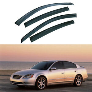 Tinted Window Visors Wind Rain Guard Vent Waterproof For Nissan Altima 2002 2006