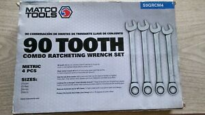 Matco Tools 90 Tooth Combo Ratcheting Wrench Set 4pc Metric S9grcm4