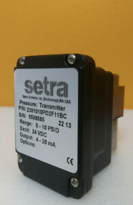 Setra 2301010pd2f11bc 0 To 10 Psid Low Differential Pressure Transmitter New