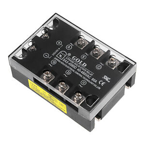 Sa34080d 4 32vdc To 40 480vac 80a Three Phase Solid State Relay Module Dc To Ac