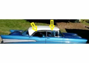 1956 57 Chevy 210 Bel Air 4 Dr Hardtop Roof Rail Weatherstrip Kit 2 Pc Cloth
