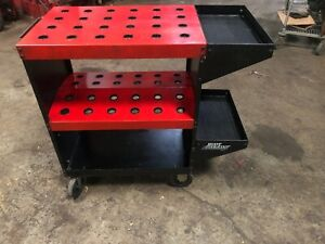 Cnc Toolscoot Tool Cart For 40 Taper Tool Holders Cat40 Bt40 Nmtb Huot Usa