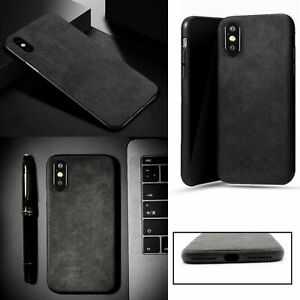 1x Slim Antiskid Fully Covered Soft Alcantara Suede Cover Case For Iphone Xs Max