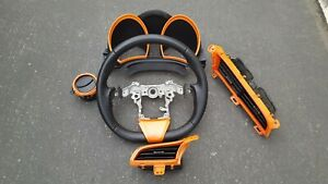 2011 2016 Scion Tc Oem Steering Wheel Leather W Orange Stiching Air Vents