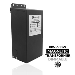 Outdoor Dc 10 300w 24 12v Led Driver Power Supply Dimmable Magnetic Transformer