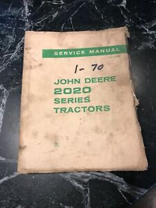 Rare Vtg Orig John Deere 2200 Tractor Owners Service Manual Book Parts