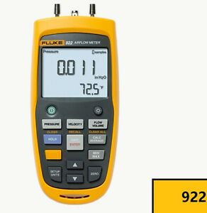 Fluke 922 Airflow Micromanometer Bright Backlit Display 0 6 Psi Pressure
