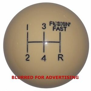 F In Fast 5 Speed Vintage Ivory Shift Knob 3 8 16 Thread U S Made