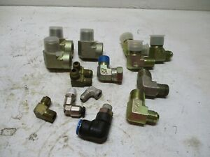 New 15 Eaton Weatherhead Misc Hydraulic Assorted Elbow Fittings