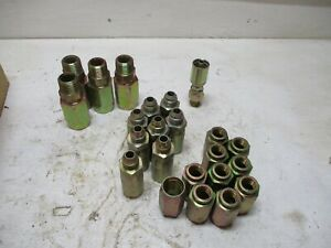 New 23 Eaton Weatherhead Misc Hydraulic Assorted Fittings