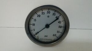 New Old Stock Ashcroft 0 60 Psi Pressure Gauge 5 Face 1 4 Npt