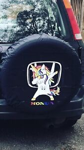 Custom Made Honda Dabbing Unicorn Tire Cover
