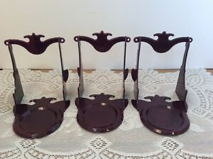 3 Vintage Mutual Plastics Tea Cup Saucer Plastic Display Stands Made In Usa