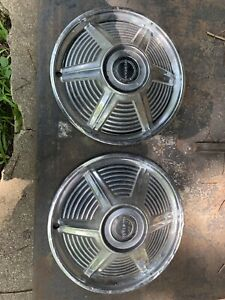 Vintage Oem 1965 66 Ford Mustang Hubcaps Free Shipping