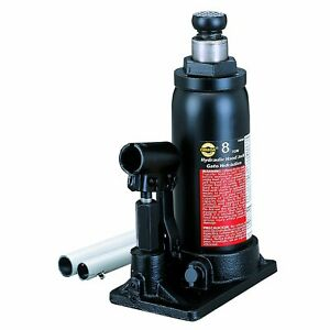 Omega 10080 Black Hydraulic In Line Bottle Jack 8 Ton Capacity