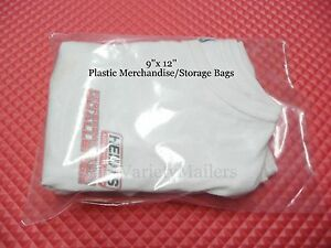 40 Clear Plastic Merchandise Clothing Bags 9 x 12 1 5 Mil Quality