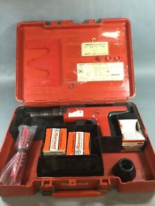 Hilti Dx 350 Powder Actuated Fastener Gun Kit W Extras Used Tested Works