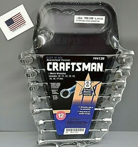 Craftsman Wrench Set Metric 8 Piece 12 Point 10mm 17mm Usa Made new Old Stock