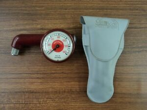 Messko Hauser Porsche Vintage Tire Gauge Red Dot With Pouch