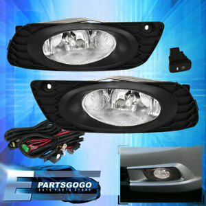 For 2012 Honda Civic 4 Door Clear Lens Fog Lights Driving Lamps Replacement Kit