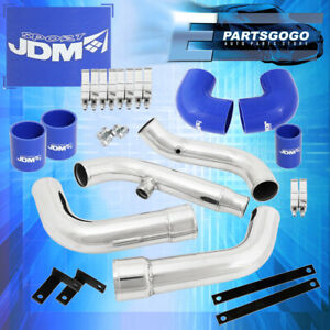 For Nissan 200sx S13 Ca18de Intercooler Piping Kit Set Blue Couplers Performance