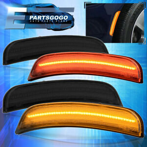 For 16 20 Chevy Camaro Smoke Lens Front Amber Rear Red Led Side Markers Lights