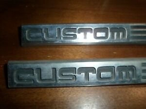 1987 1991 Ford F150 F250 F350 Fender Custom Emblem Pair oem