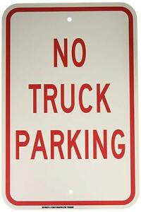 Brady 129637 Traffic Control Sign Legend no Truck Parking 18 Height 12