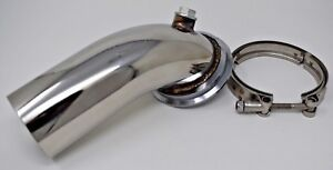 Stainless Downpipe Elbow 90 Holset Turbo Hy35 Hx He351 V Band Flange Clamp 4