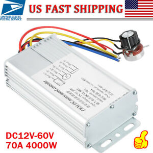 Dc 12v 60v 70a 4000w Super Power Rectangle Pwm Motor Speed Controller High Power