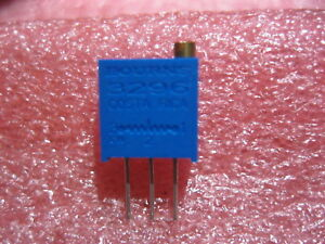 3296w 1 102 Bourns Trimmer 1k Ohm 0 5w Pc Pin 25 Turn Lot Of 50