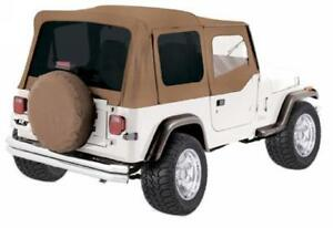 1988 1995 Jeep Wrangler Yj Replacement Soft Top W Upper Door Tinted Window Spice