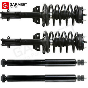 Bullitt Front Struts Assembly Rear Shocks For 2007 2010 Ford Mustang Base Gt