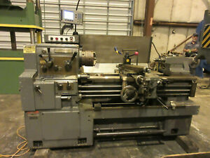 Engine Lathe 17 X 40 Whacheon 8 3 Jaw Dro X z In mm Quick Change Post Gap Bed