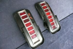 1970 Oldsmobile 98 Tail Lights Pair Old58
