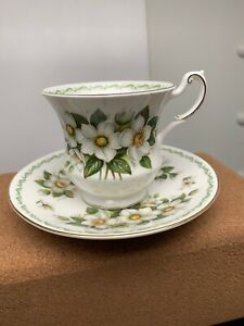 Vintage Royal Dover Bone China Tea Cup And Saucer Lt 006