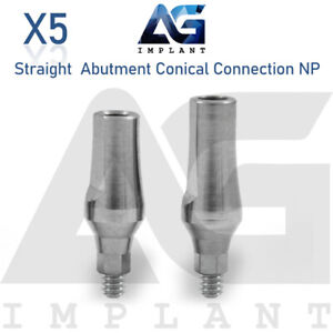 5 Standard Straight Abutment Conical Connection Np Titanium For Dental Implant
